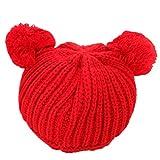 BuyHere Cute Unisex Baby Cap Knitting HatRed