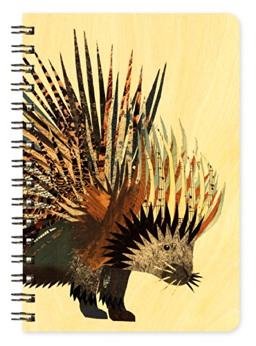 Porcupine Wooden Pocket Notepad by Dolan Geiman and Night Owl Paper Goods