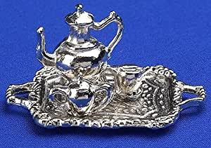 12th Scale Dolls House Accessory - Coffee Set on Tray
