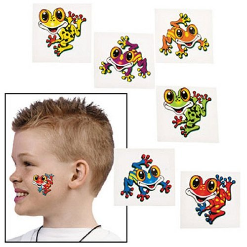 Frog Temporary Tattoos (72pcs)