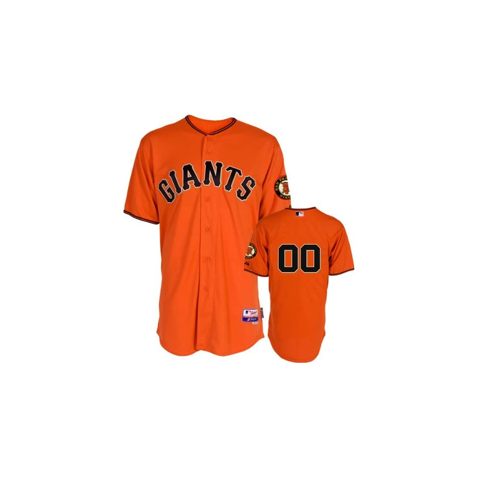 San Francisco Giants Jersey Any Player Alternate Orange Authentic Cool Base⢠On Field Jersey without World Series Patch
