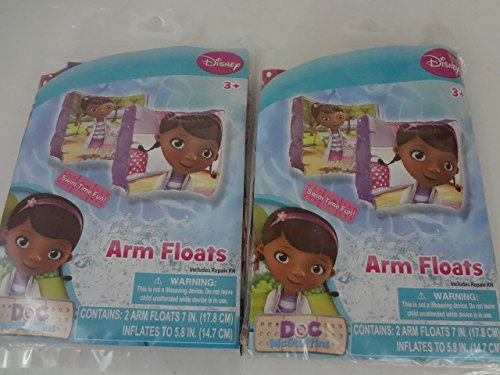 "Bundle Set of 2 Disney Doc McStuffins Swim Water Toys: 2 packages of two 7"" Arm Floats. - 1"