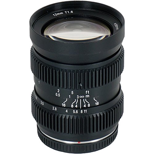 SLR Magic 12mm T1.6 HyperPrime Cine/Still Lens MFT Fitting (New Design) UK stock and extended Two year warranty