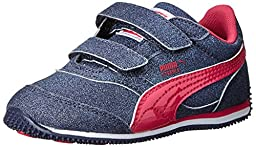 PUMA Steeple Glitz AOG V Kids Sneaker (Infant/Toddler/Little Kid), Peacoat/Beetroot Purple, 4 M US Toddler