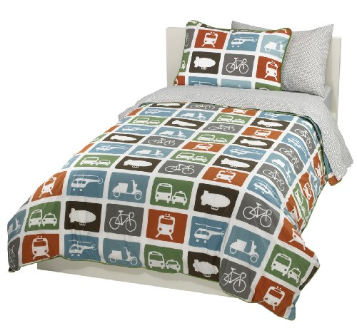 DwellStudio Transportation Full/Queen Duvet Set, 