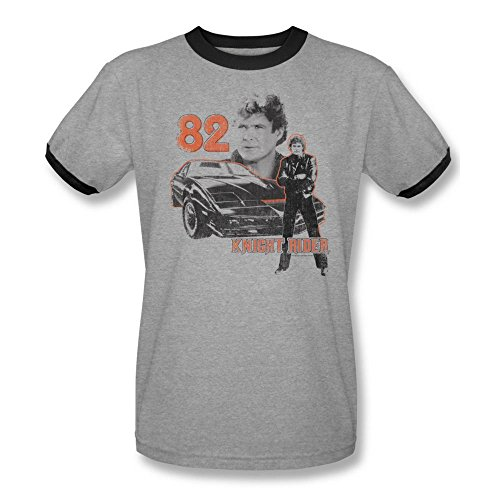 Knight Rider Men's 1982 T-shirt Large Heather Black