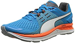 Puma Speed 1000 S IGNITE, Unisex Adults  Competition Running Shoes, Multicolor (Quarry/Atomic Blue/White), 9.5 UK (44 EU)