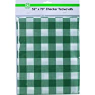 Checker Tablecloth - Smart Savers-52X70 CHECKER TABLECLOTH