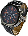YouYouPifa� Sport Style Black Dial Le...