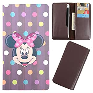 DooDa - For XOLO Q1200 PU Leather Designer Fashionable Fancy Case Cover Pouch With Card & Cash Slots & Smooth Inner Velvet