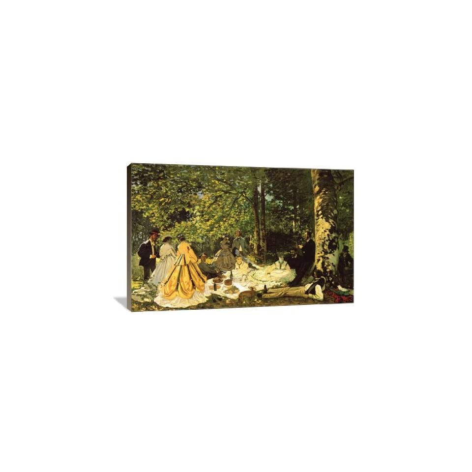 Luncheon on the Grass   Gallery Wrapped Canvas   Museum Quality  Size 24 x 16 by Claude Monet