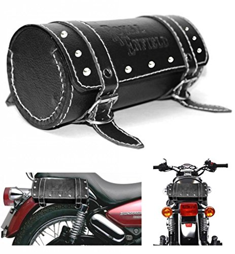 Generic (unbranded) Round Saddle Bag for Royal Enfield (Black, M)