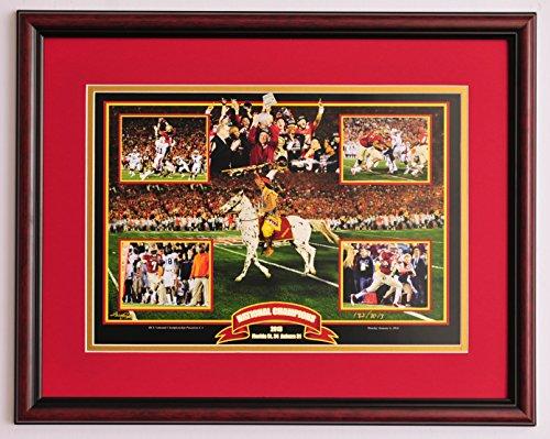 Florida State FSU Seminoles Football BCS National Championship framed print (Jems Online Inc compare prices)