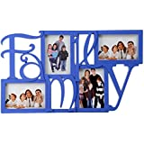 Priya Collections Glass 4-in-1 Collage Photo Frame With Frame (50 Cm X 30 Cm X 3 Cm, Blue)