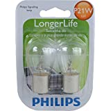 Philips P21W LongerLife Miniature Bulb, 2 Pack