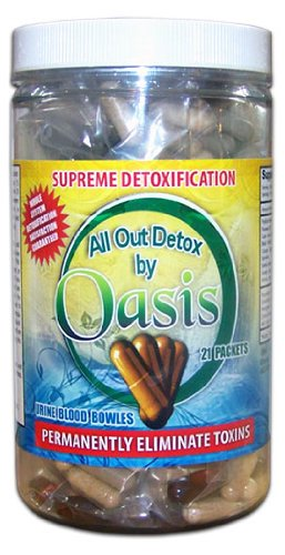 Oasis All Out Detox Seven Day Detox Kit Whole Body Cleanse