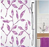 Waterproof And Mildew-Resistant Thickening PEVA Environmental Bathroom Shower Curtain With Purple Leaf ,80x72 inch(200x180 cm)