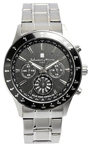 [サルバトーレマーラ]腕時計 ウォッチ 電波ソーラー クロノグラフ メンズ 限定モデル イタリアブランド アナログ表示 5気圧防水 SM14117 シルバー 【雑誌掲載モデル】