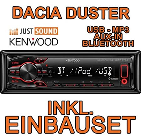 Dacia duster kenwood kMM-bT34 autoradio cD/mP3/uSB encastré avec bluetooth