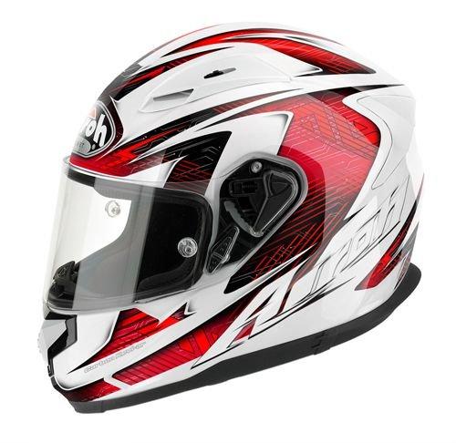 Airoh t600 casque t6B55 moto rouge