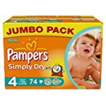 Pampers Simply Dry (Maxi) Jumbo Pack...