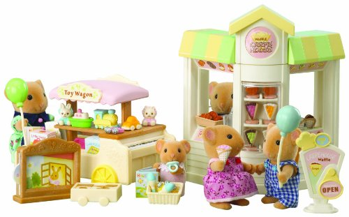 Imagen principal de Sylvanian Families 2795 - Pastelería y juguetería de juguete con accesorios [importado de Alemania]
