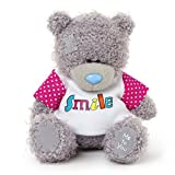 Me to You 4-inch Tatty Teddy Bear Wearing a Smile T-Shirt (Grey)
