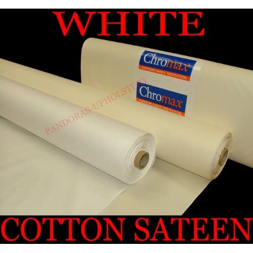 Anti Crease Sateen White Curtain Lining By The Metre