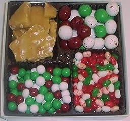 Scott\'s Cakes Large 4-Pack Christmas Mix Jelly Beans, Dutch Mints, Christmas Malt Balls, & Peanut Brittle