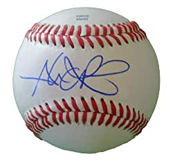 Alex Rios Autographed ROLB Baseball, Chicago White Sox, Toronto Blue Jays, Proof Photo