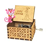 Sooye Pink Panther Music Box- 18 Note Mechanism Antique Carved Children's Collection(Pink Panther) (Color: Pink Panther, Tamaño: small)