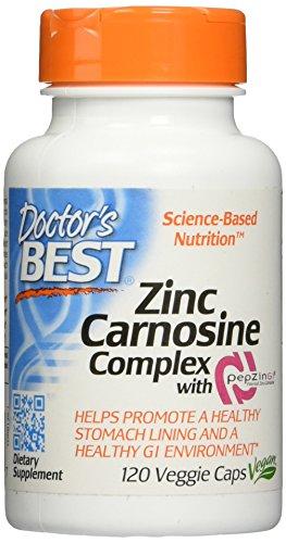Zinc Carnosine Complex with PepZin GI, 120 Veggie Caps, 120 Count