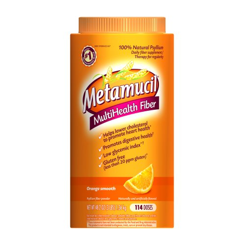 Metamucil Orange Sugar Smooth Texture Powder  48.2oz/114 Doses