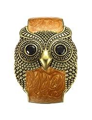 Merdia Vintage Wide Owl Woman Cuff Bracelets (Vintage copper coffee)