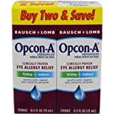 Opcon-A Eye Drops 15 ml, 2 Count