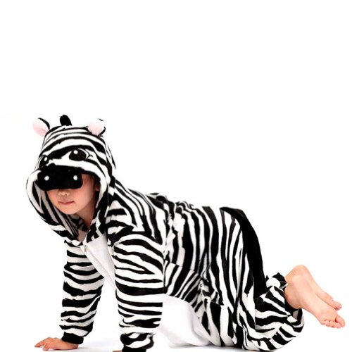 "Zicac Unisex Adult Children Kids Anime Cosplay Costumes Onesie Children And Adult Children Kids Pajamas Pyjamas Sleepwear Nightclothes Cosplay Gift For Hallowmas (Children Height 140-150Cm(55""-59""), Zebra) front-976972"