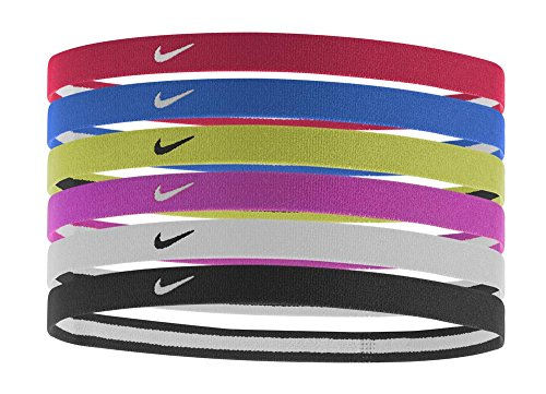 Nike Swoosh Sport Headbands 6pk (University Red/Game Royal/Volt)