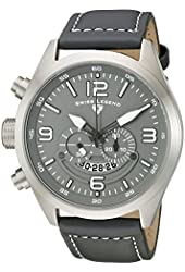 Swiss Legend Men's 10020-014-GRYS Highlander Stainless Steel Watch with Grey Leather Band