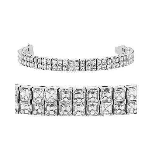 Diamond Bracelet - Double Row Asscher Diamond