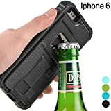 iPhone 6s Case, ZVE Multifunctional Cigarette Lighter Cover for iPhone 6/6s Built-in Cigarette Lighter/bottle Opener/ Camera Stable Tripod Case (Black)