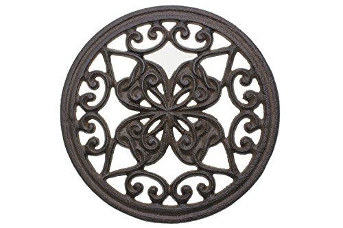 Best Review Of Cast Iron Trivet | Round with Vintage Pattern | Decorative Cast Iron Trivet For Kitch...