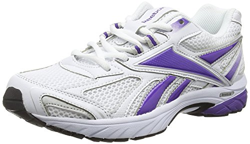 Reebok Pheehan Run - Scarpe Running Donna, Bianco (Syn White/Prospect Purple/Pure Silver/Black), 38.5 EU