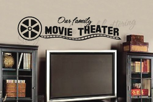 Our family movie vinyl wall lettering words sticky art home decor quotes stickers decals