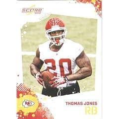 Thomas Jones - Kansas City Chiefs - 2010 Score Football Card - NFL Trading Card in...