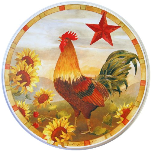 Reston Lloyd Corelle Coordinates Burner Cover, Morning Rooster, Set of 4 (Decorative Stove Burner Covers compare prices)