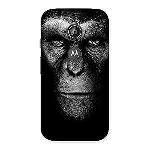Stylish Black King Chimp Back Case Cover for Moto E 2nd Gen