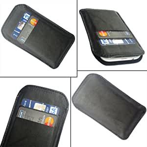i-KitPit Quality PU Leather Pouch Case Cover For Lava Xolo Q500 (BLACK)