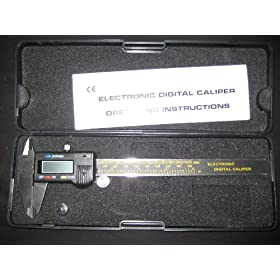 "Pittsburgh 6"" Digital Caliper with Metric and SAE Fractional Readings"