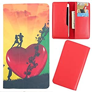 DooDa - For Lenovo A1000 PU Leather Designer Fashionable Fancy Case Cover Pouch With Card & Cash Slots & Smooth Inner Velvet