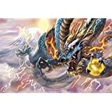 2016 piece jigsaw puzzle Lightning Blue Dragon Small piece (50x75cm)